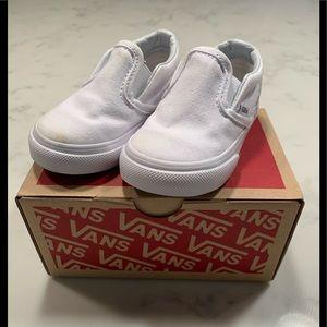 Vans white toddler